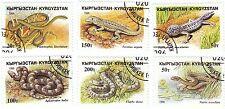 KYRGYZSTAN - Bustina 6 francobolli serie ANIMALI, RETTILI