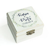 Wedding Ring Box Personalized Wedding Ring Bearer Holder Box Rustic Ring Holder