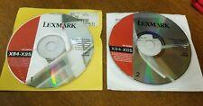 lexmark x84-x85 installation software disc 1 & 2 ( printers 2001- 2002) mac &wds