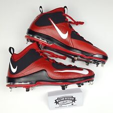 best service 97a9a 960e4 Men s Nike Air Max MVP Elite 2 684687-017 Metal Baseball Cleats Black Red Sz