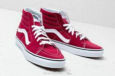 Vans SK8 Hi Rumba Red/True White Men's Classic Skate Shoes Size 8