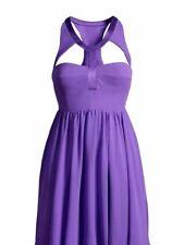 2011 VERSACE for H&M Cut Out Haltered Purple Silk Dress - US 8 MINT!