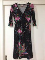 Leona Edmiston Ruby Sheath Dress Black Graphic Pattern Gorgeous Size 6 EUC