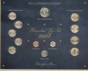 2008 U.S. Commemorative Gallery Uncirculated Year Set 2008 + Philadelphia mint