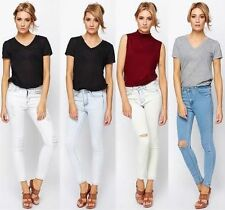 Cotton Ripped, Frayed L32 Jeans for Women