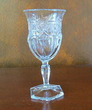 US Glass Reverse/Paneled 44/Athenia /Gold EAPG Water Goblet(s)