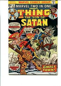 MARVEL TWO IN ONE #14 (THE THING AND SON OF SATAN 1976) VF
