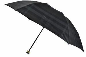 New Burberry Folding Umbrella Stripe 55cm Black from Japan