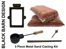 5 Piece Sand Casting Bundle For Metal Casting (Delft Style) Gold Silver Bronze