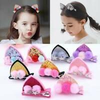 2Pcs Hairpins Cat Ears Bunny Barrettes Kids Hair Accessories Cute Hair Clips