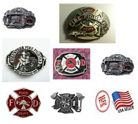 MIXED Styles Fire Department Fire Fighter Metal Fashion Belt Buckles