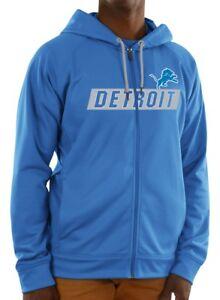 """Detroit Lions Majestic NFL """"Game Elite 2"""" Men's Full Zip Hooded Sweatshirt"""