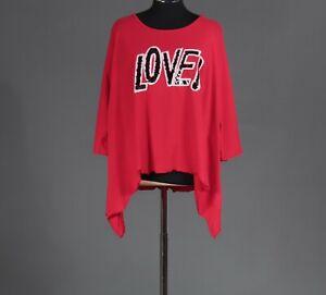 Allocca - Shirt - EG  - Farbe: Rot - schwarz/weiße Paillettenschrift love
