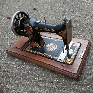 vintage Jones family cs sewing machine with original key