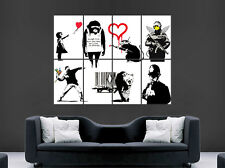 Banksy graffiti poster street wall art collage grande image giant