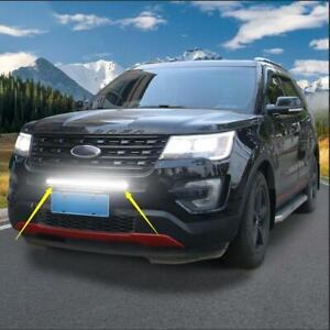 Car Off Road Front Grille Warning LED Light Bar For Ford Explorer Trim 2011-2019