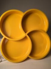 Vintage Mid 70's Dansk 4 Chamber Condiment Tray in Yellow by Gunnar Cyren