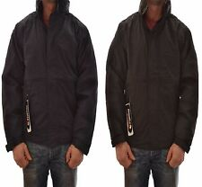 REGATTA MENS DOVER WATERPROOF JACKET FLEECE LINED NAVY/BLACK TRW297 HYDRAFORT