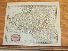 1806 Antique COLOR Map//NETHERLANDS