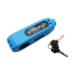 Blue Caps-Lock Motorbike Scooter Handlebar Brake lever Grip Lock Security Lock