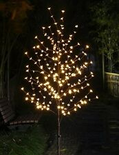 Cherry Blossom Tree Lights White LED Lighted Christmas Indoor Outdoor Decor Home