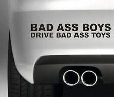 BAD ASS BOYS DRIVE BAD ASS TOYS CAR BUMPER STICKER FUNNY DRIFT JDM