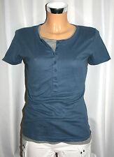 """Flashlights"" Damen T-Shirt  2-er Set  Shirt(blau)+Top( grau) kurzarm 36,S neu"
