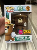 Funko Pop! Flocked Smokey Bear Ad Icons Hot Topic Exclusive IN STOCK Pop 75 New