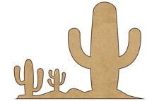 2 PCS Mixed Cactus plants scene MDF blanks, Picture-Scrapbook-box #CACT008-100mm