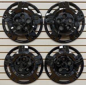 "NEW 2014-2021 Dodge PROMASTER Van 16"" Steel Wheel BLACK Hubcaps Wheelcovers SET"