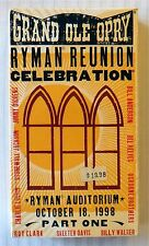 Grand Ole Opry: Ryman Reunion Celebration 1 ~ New VHS Video Country Music Movie