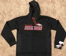 NWT NFL Denver Broncos Majestic Men's Game Elite Full Zip Hoodie Black M RT$75