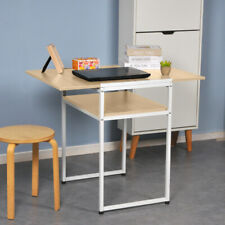 2-Tier Extendable Computer Desk Dining Table for Small Space Folding Home Office