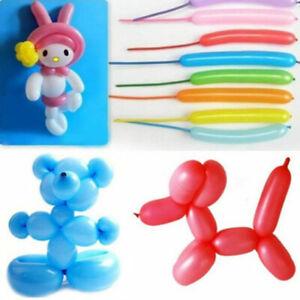 10Pc Metal Color Strip Magic Long Balloon Party DIY Decor Creation Modeling hg