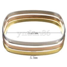 3PCs Stainless Steel Bangle Set Women Gold Silver Brass Bangle Bracelet Cuff