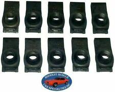 NOSR GM Body Fender Frame Grille Valance 5/16-18 Bolt U Clip Panel J Nut 10pcs F