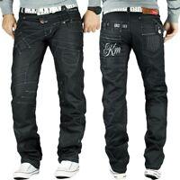 Kosmo Lupo Herren Jeans Freizeit Hose Clubwear Designer Dope Cargo Style Schwarz