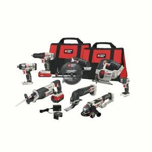 PORTER-CABLE 20V MAX Cordless Drill Combo Kit, 8-Tool (PCCK619L8)