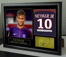 """Neymar Tributes PSG Signed Framed Great Gift """"Home & Away Shirts"""""""