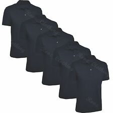 5 Pack Uneek Polo Shirt Unisex Work Wear Gym Short Sleeve New Navy Medium