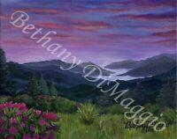 "Great Smoky Mountain Rhododendron art 8"" x 10"" Giclée art PRINT"