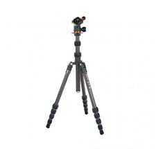 3 Legged Thing Punks Brian Carbon Fibre Travel Tripod With Airhed Neo - Black