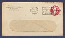 1922 COVER, STATE STREET TRUST CO., BOSTON, MASS. (POSTAL STATIONERY)