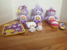 Lot of 3 Care Bears & Accessories SOFT LIL' HARMONY Take Care & Beach Party VGC