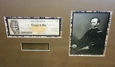 GENERAL WILLIAM T SHERMAN PHOTO SIGNED AUTOGRAPH CHECK RIGGS AND CO WITH COA