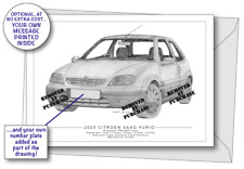 Citroen Saxo Furio 2003 greetings card