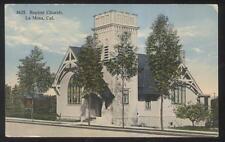 Postcard La Mesa California Ca Baptist Church W Bell Tower 1907