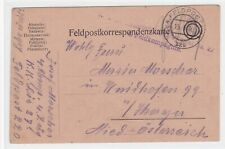 Feldpostkarte K u. K Feldpost, Feldpostkorrespondenzkarte,  aus 1916