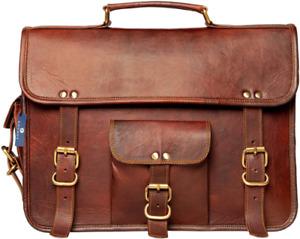 Leather Messenger Shoulder Laptop Briefcase Bag Men's Vintage Best Quality