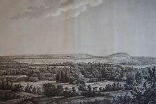 Daubigny, Riollet : Vue de la ville de CLERMONT EN BEAUVOISIS, 1780